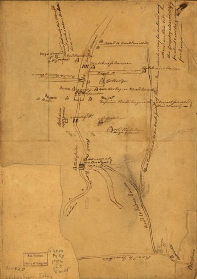 Recon Map Of Princeton New Jersey, Dec. 31, 1776. Civil War Print/Poster (4815)